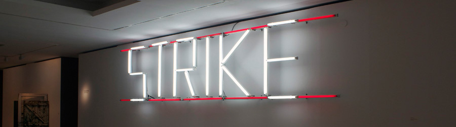 CLAIRE FONTAINE. Strike, K. Font, V.1, (2005) Collection Frac Aquitaine, Bordeaux