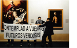 Kepa Garraza. Acción de Asalto al Arte nº 9, Madrid. 2008. Olioa mihise gainean. 180 x 275 cm.