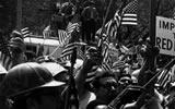 Concentraci�n con casco, New York, 1969