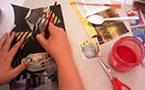 Artista tailerra Damaris Pan-ekin